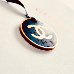 100% Authentic CHANEL logo charm, ornament NEW!